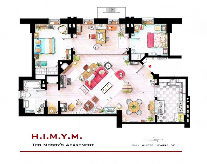 Wordless Wednesday: Floor Plans Of Television And Movie