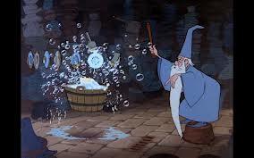 Merlin, from Arthurian Legends (it looks like he does housework!)