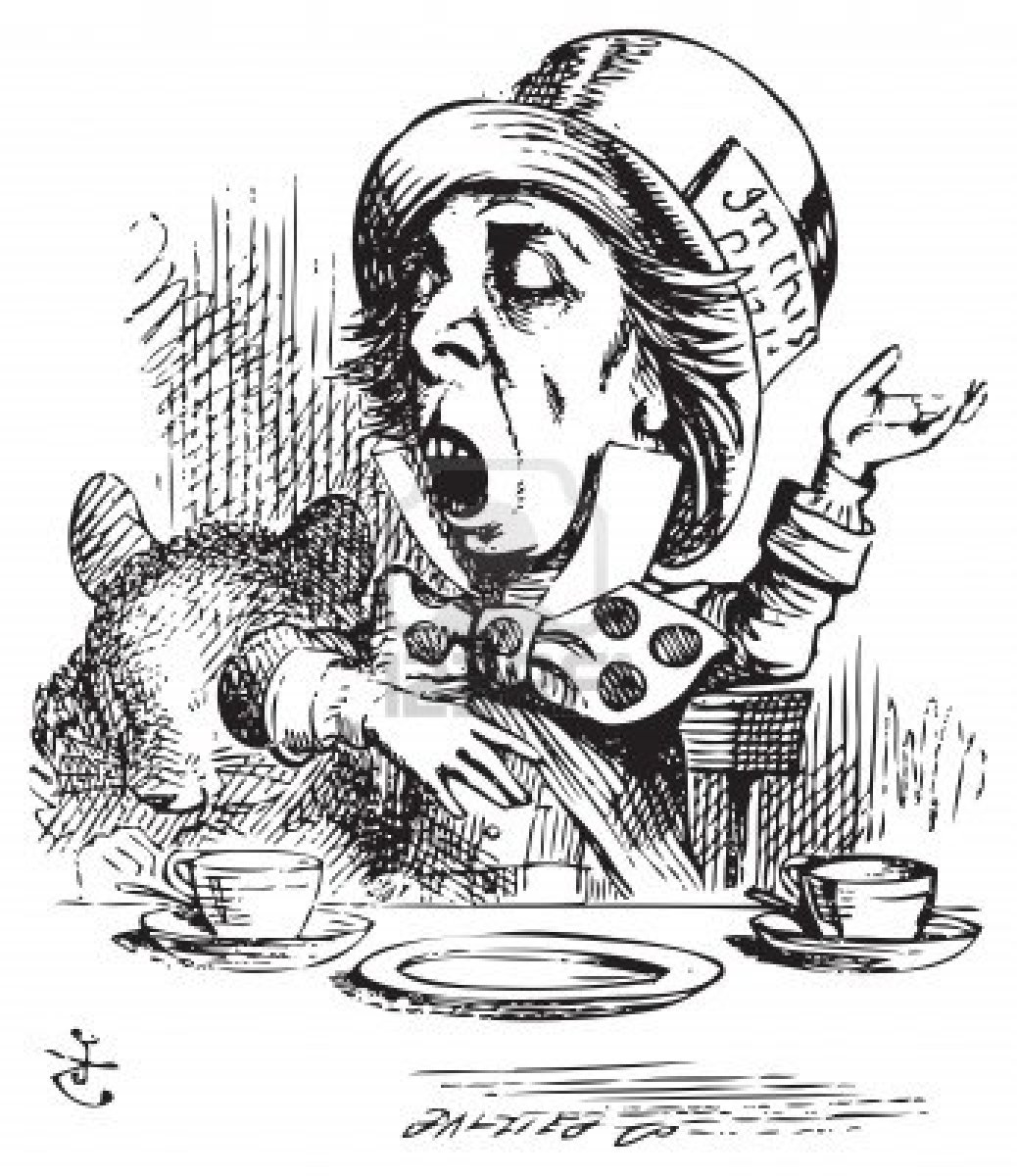 mad hatter tea party clip art - photo #36