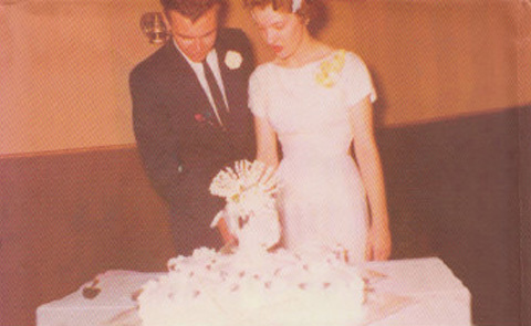 Raymond Carver age 19 with  his 16-year-old bride Maryann Burke