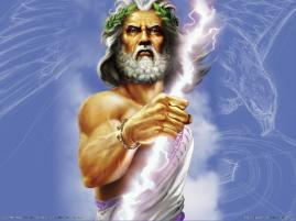 Zeus: King of the gods.
