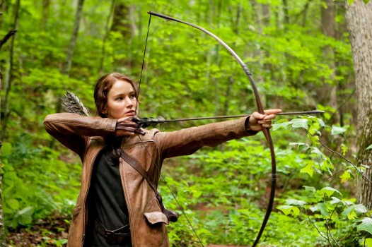 Katniss from THE HUNGER GAMES, by Suzanne Collins