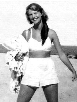 Sylvia Plath in shorts