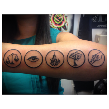 Divergent hardcovers and heroines for Divergent tattoo tris