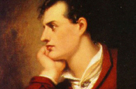 "Lord Byron: ""You gave me the key to your heart, my love, then why did you make me knock?"""