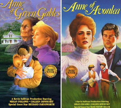 The Anne of Green Gables Movies, based on the book series by L.M. Montgomery