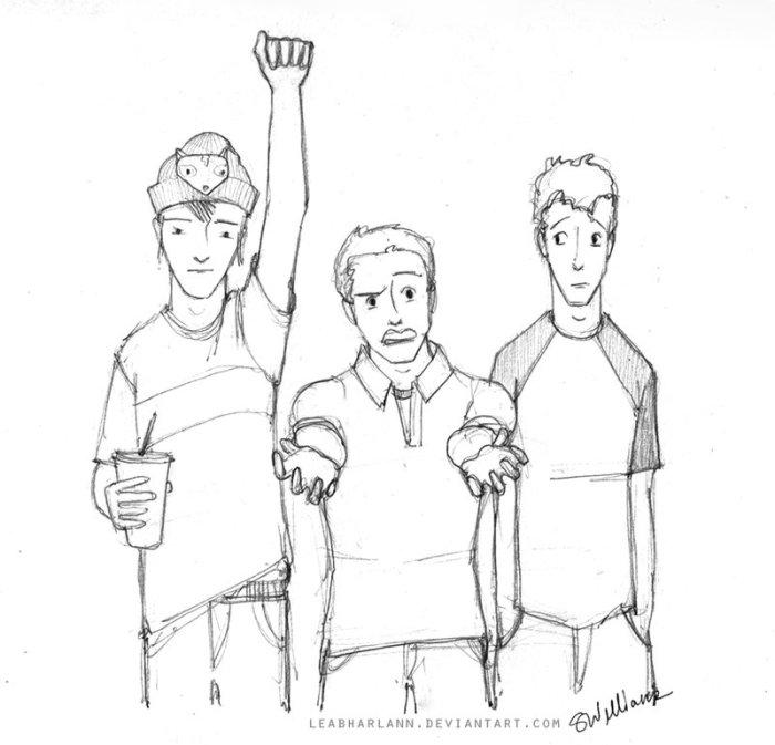 Takumi (left), the Colonel (center), Miles (right)