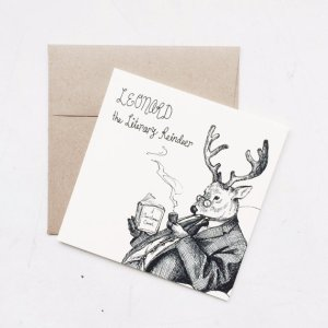 Literary Reindeer Card