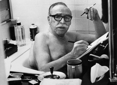 Dalton Trumbo Writing in the Bathtub