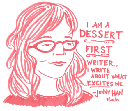 Here is a quote from Jenny Han's speech last night that popped up on one of my favorite blogs Last Night's Reading. It was so fun to hear about her writing process!