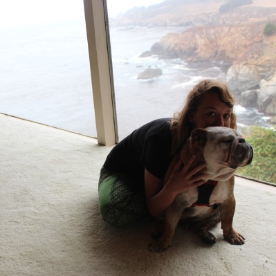 My sister drove up and we went to Big Sur to say goodbye to my grandparents house (that they just sold) and say hello to world's cutest puppy. Also: look at that view.